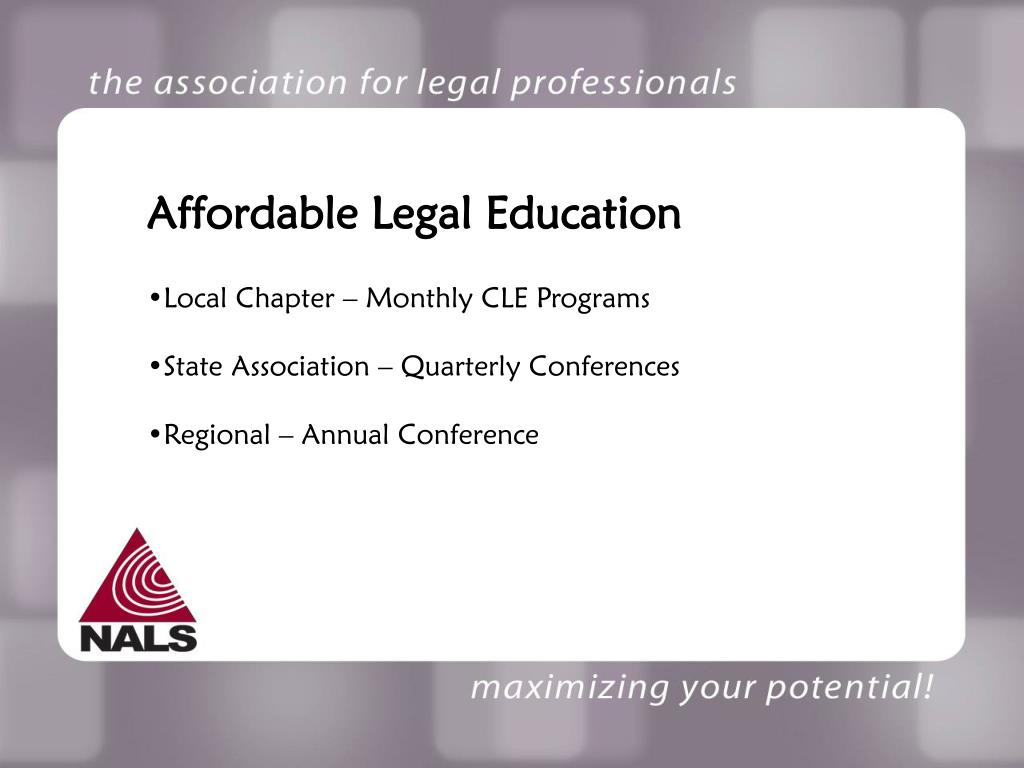 Affordable Legal Education