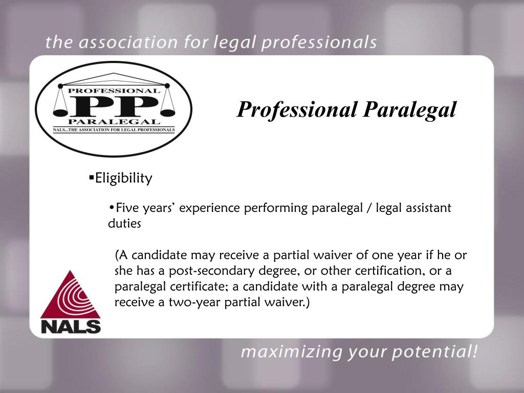 Professional Paralegal