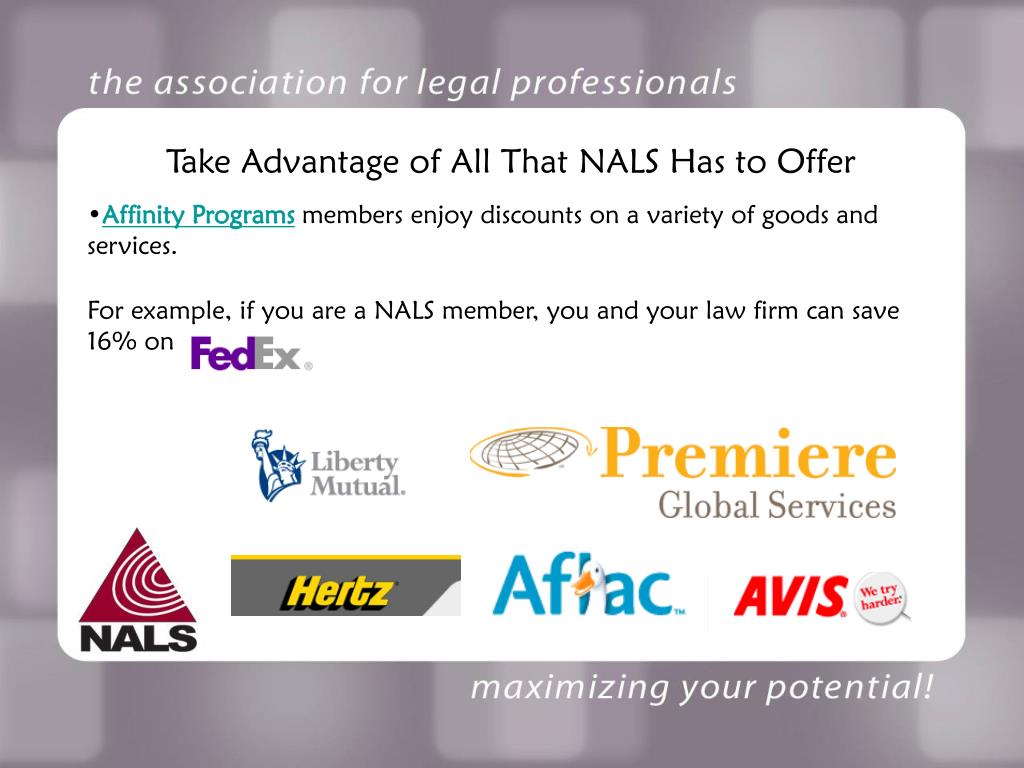 Take Advantage of All That NALS Has to Offer