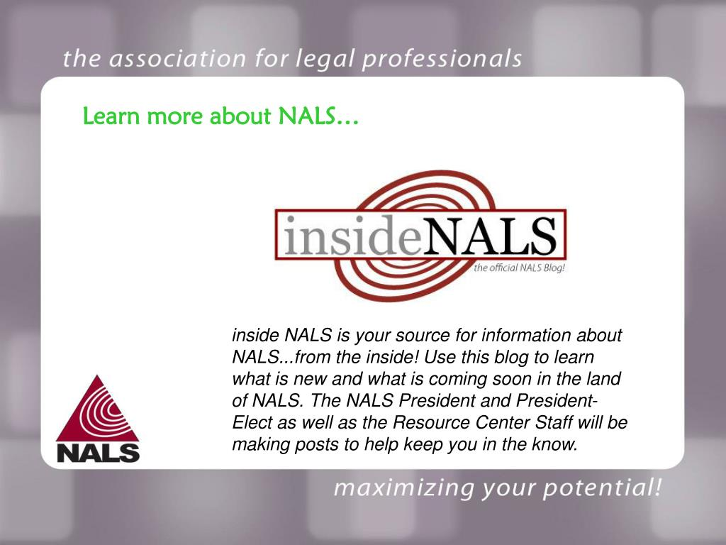 Learn more about NALS…