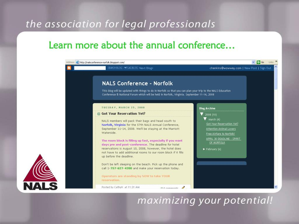 Learn more about the annual conference…