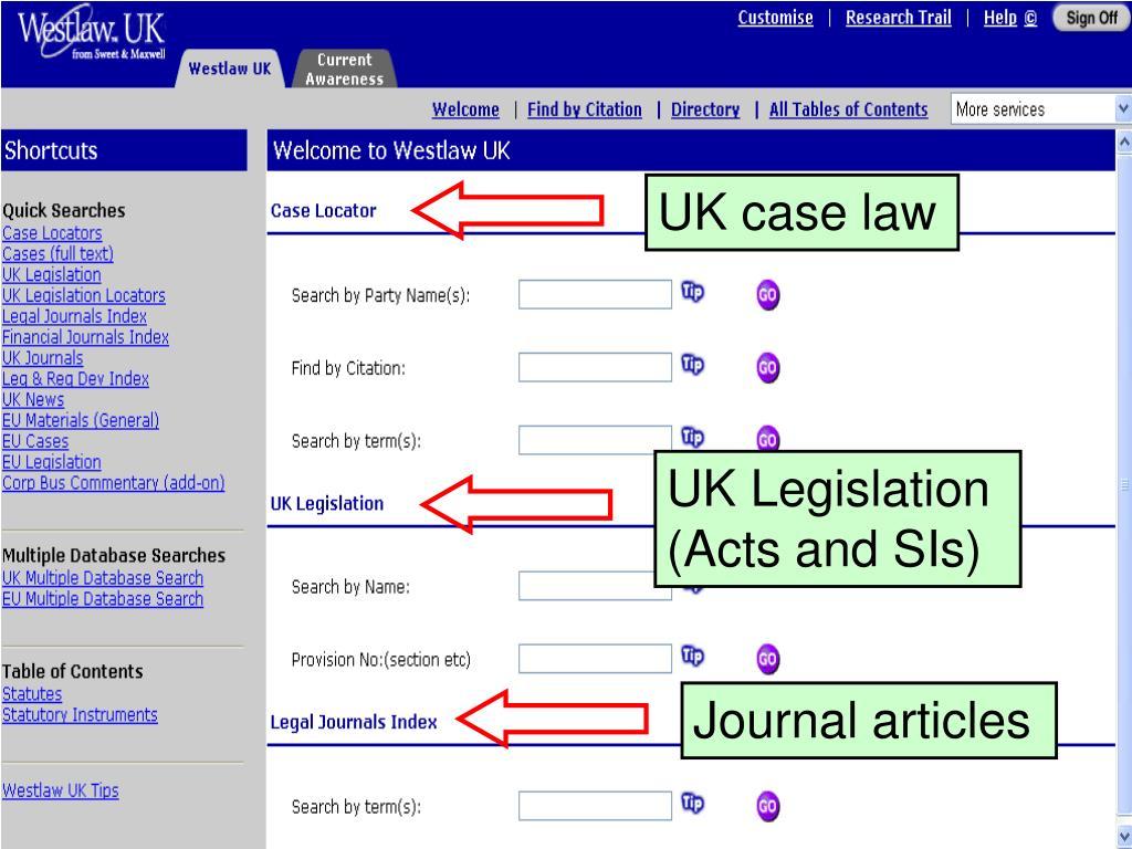 UK case law