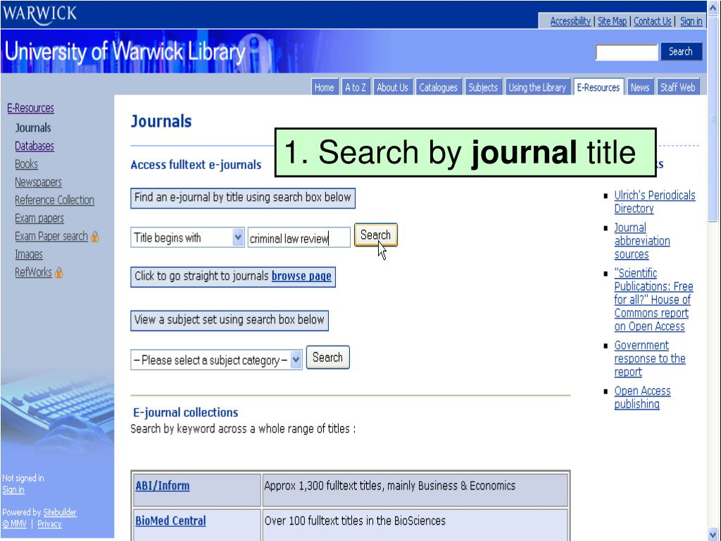 1. Search by