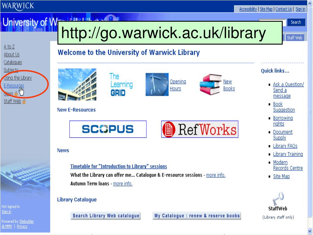 http://go.warwick.ac.uk/library