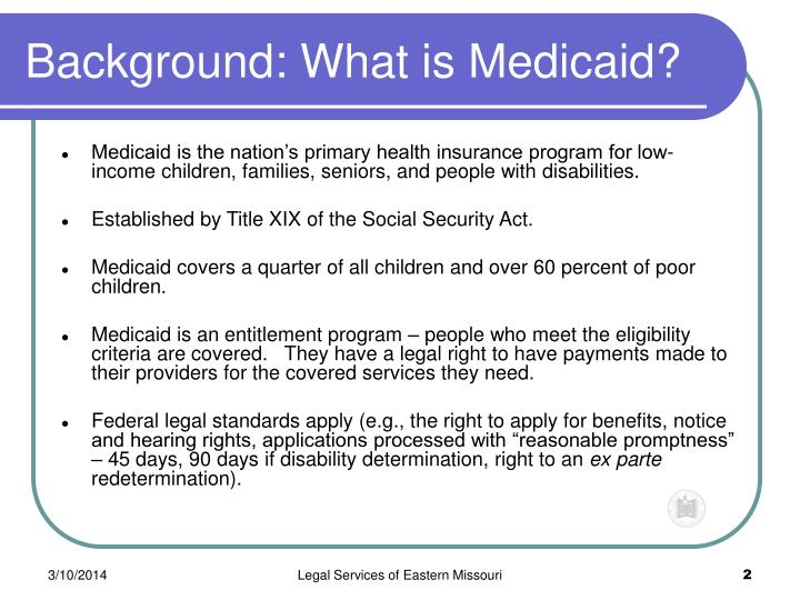 Background what is medicaid