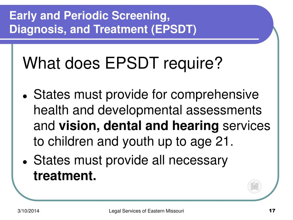 Early and Periodic Screening,