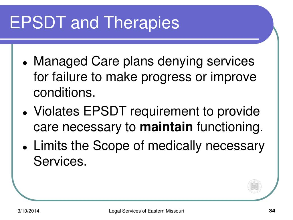 EPSDT and Therapies