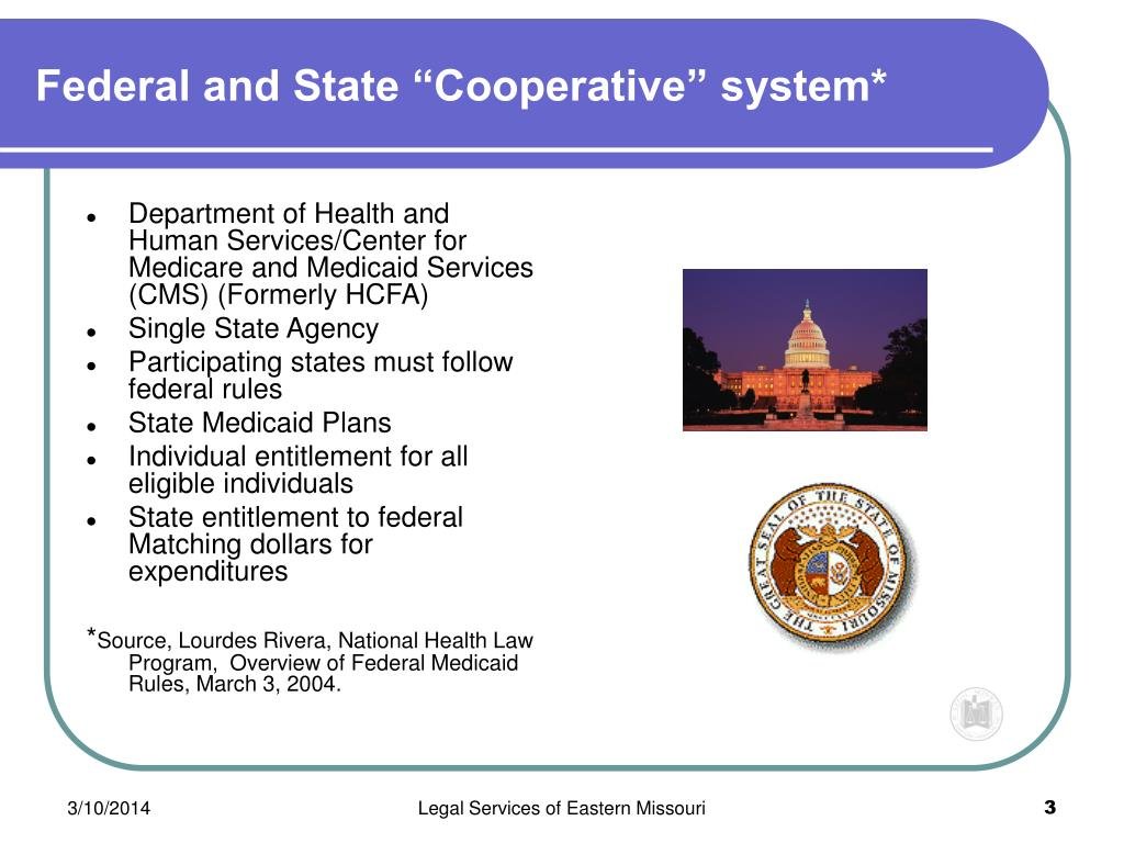 """Federal and State """"Cooperative"""" system*"""