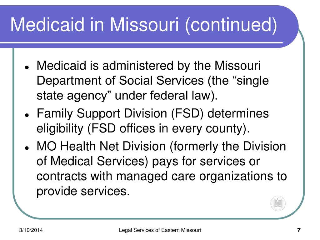 Medicaid in Missouri (continued)