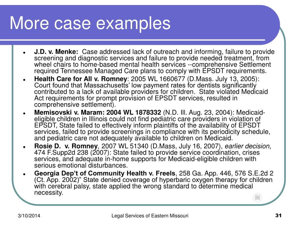 More case examples