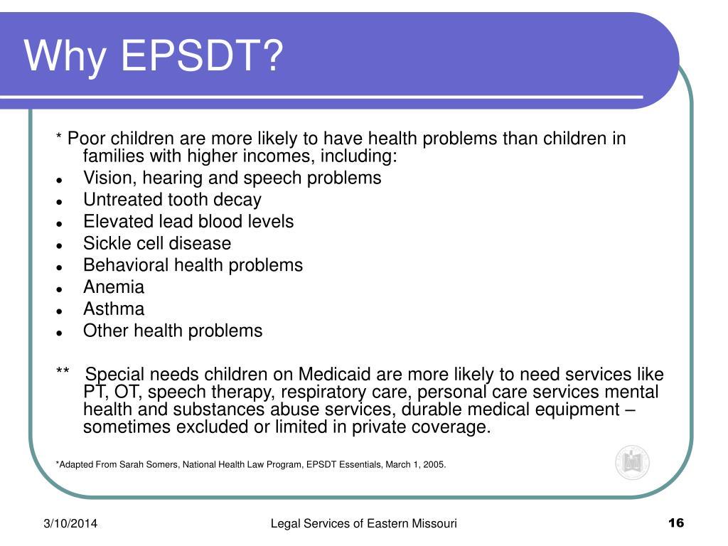 Why EPSDT?