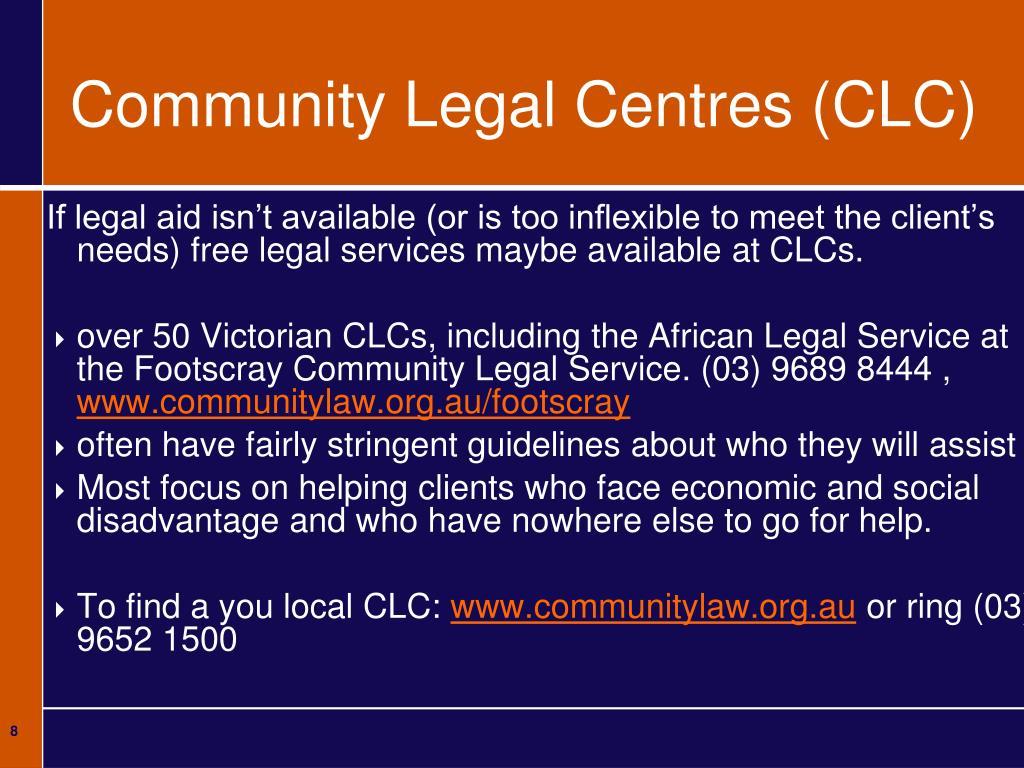 Community Legal Centres (CLC)