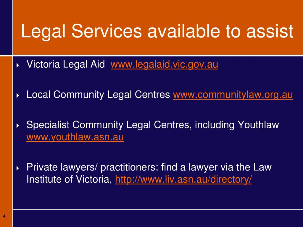 Legal Services available to assist