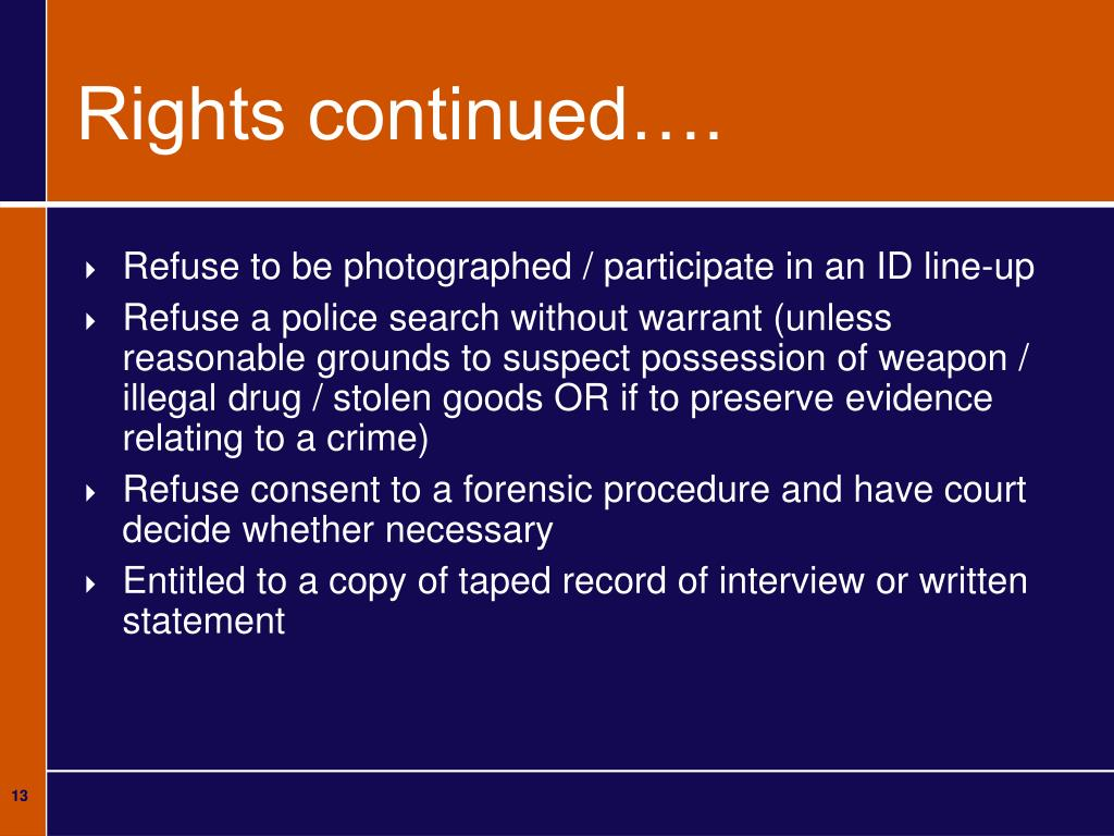 Rights continued….