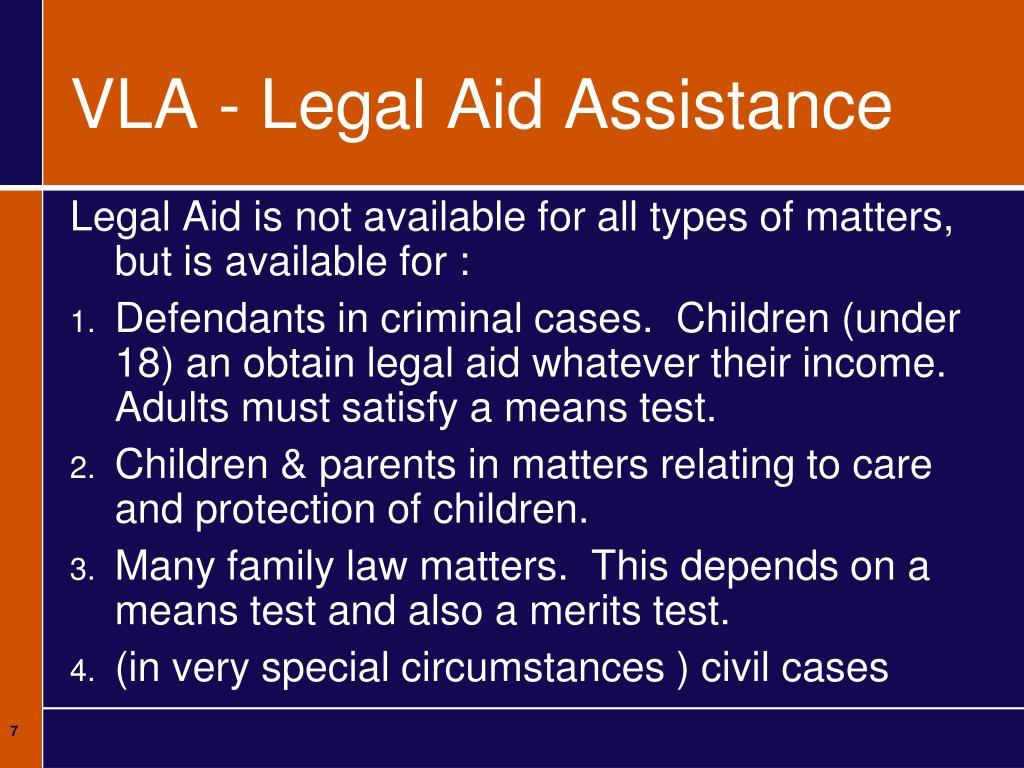 VLA - Legal Aid Assistance