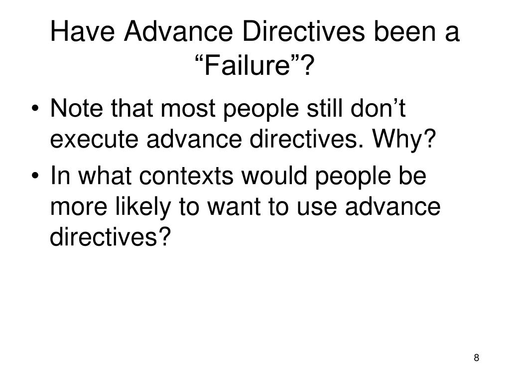 """Have Advance Directives been a """"Failure""""?"""