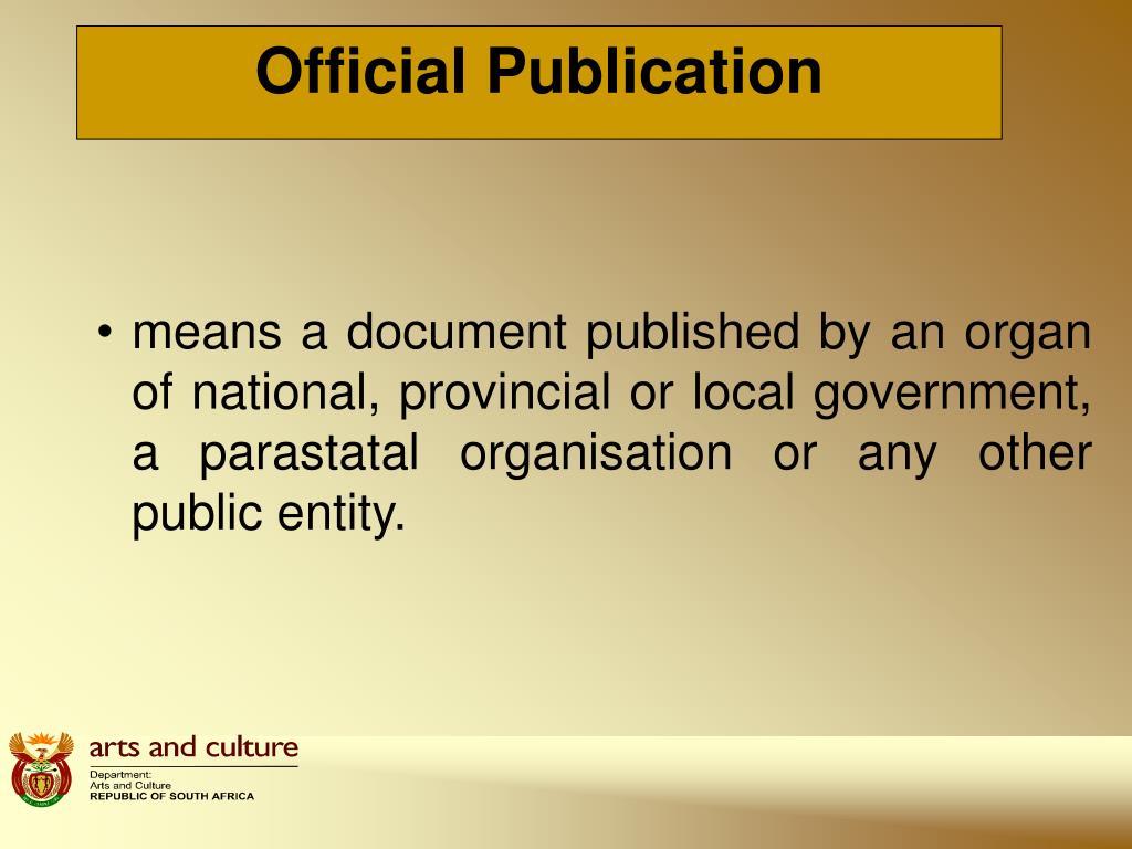 Official Publication