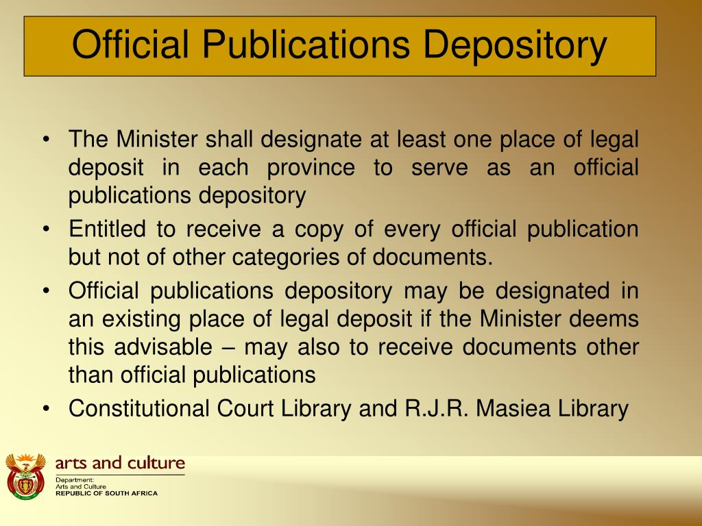 Official Publications Depository