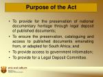 purpose of the act