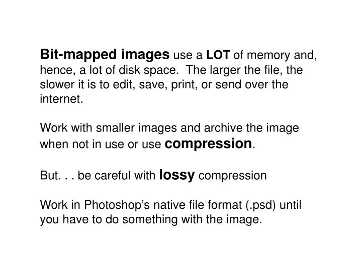 Bit-mapped images