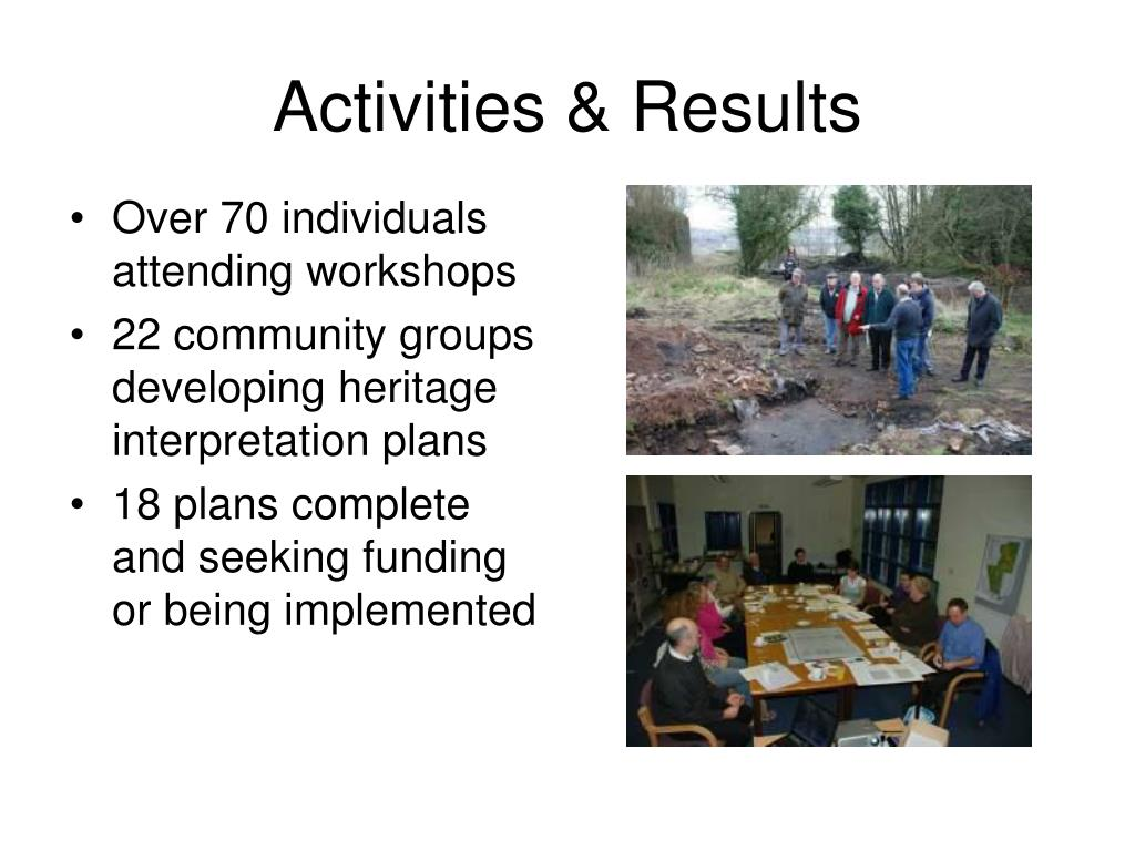 Activities & Results