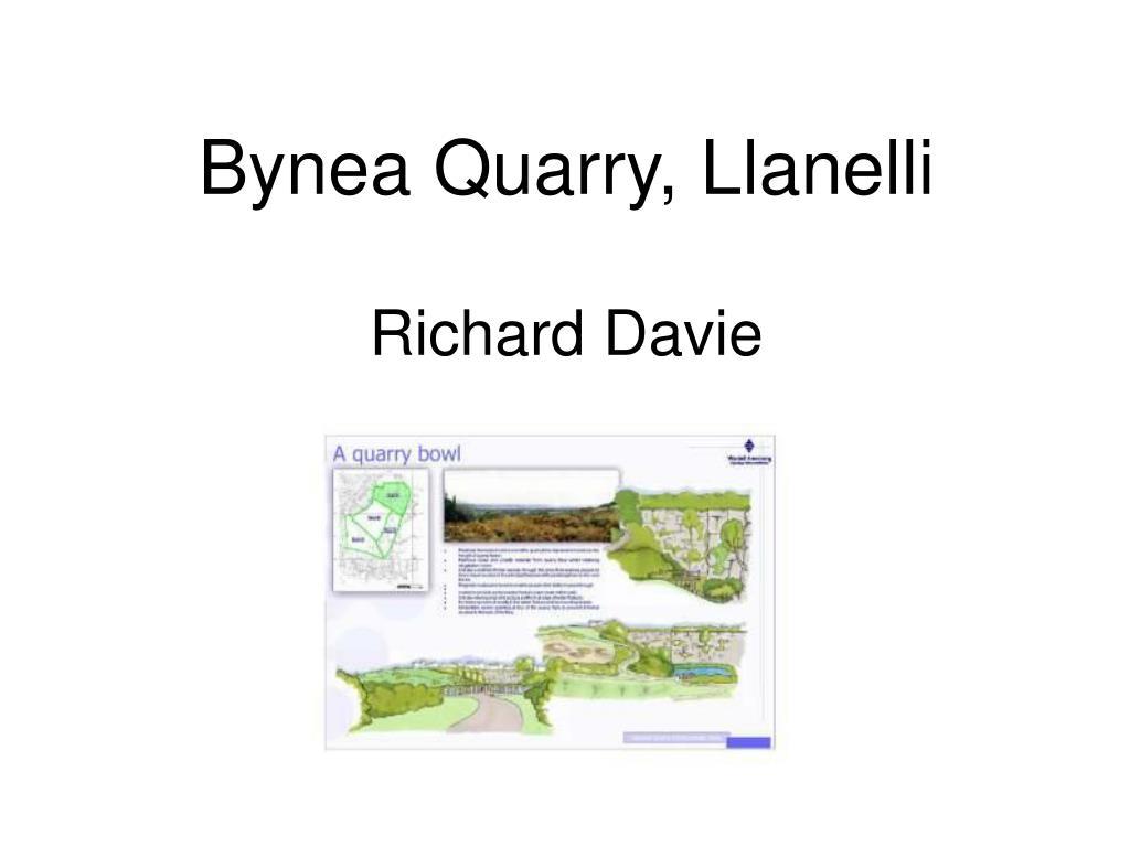 Bynea Quarry, Llanelli