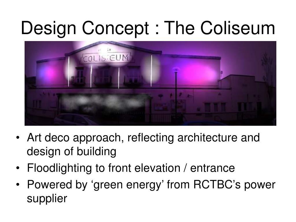 Design Concept : The Coliseum