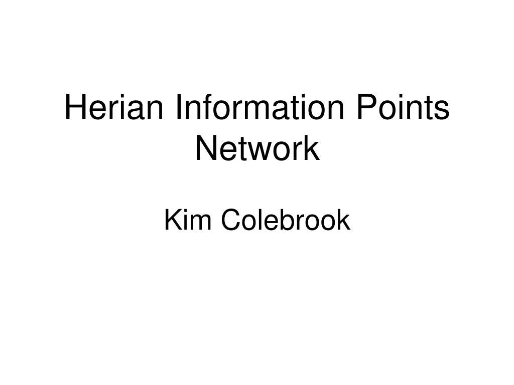 Herian Information Points Network