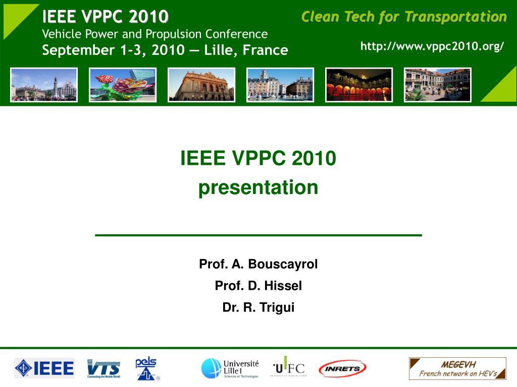 IEEE VPPC 2010