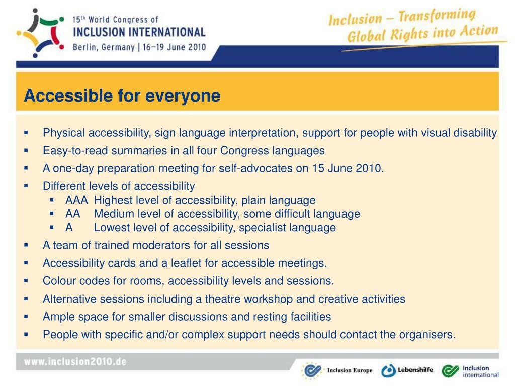 Accessible for everyone