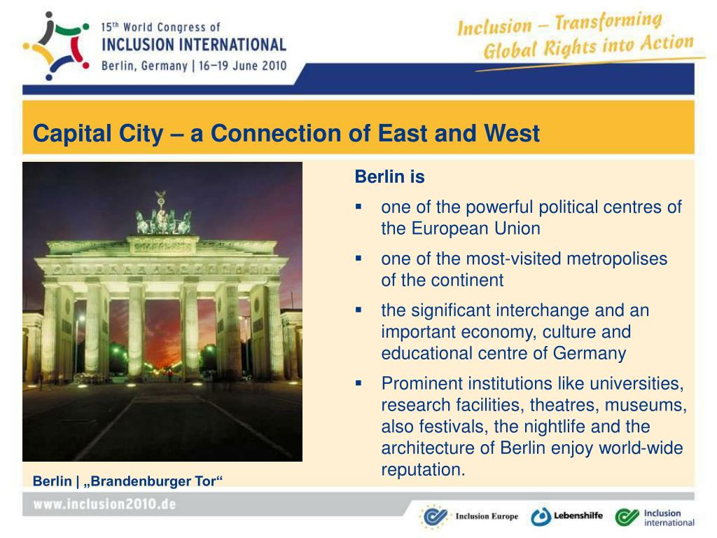 Capital City – a Connection of East and West