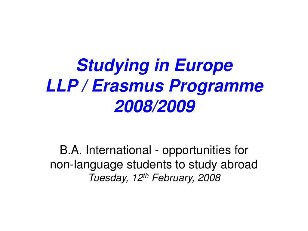 Studying in Europe
