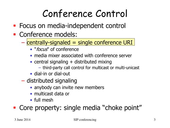 Conference Control