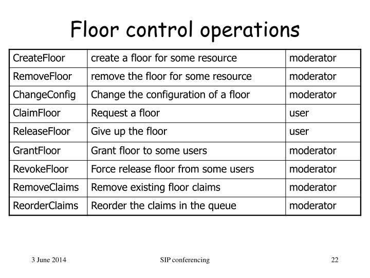 Floor control operations