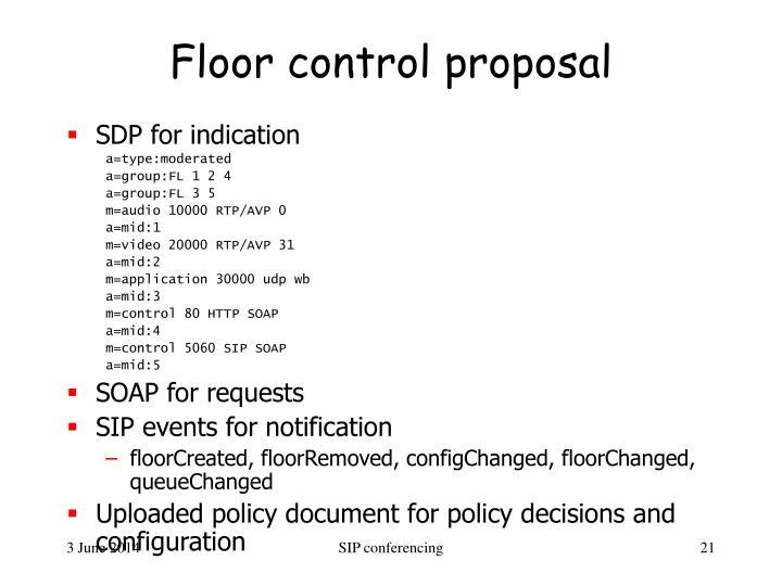 Floor control proposal