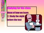 studying for the class4