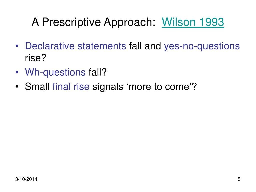 A Prescriptive Approach: