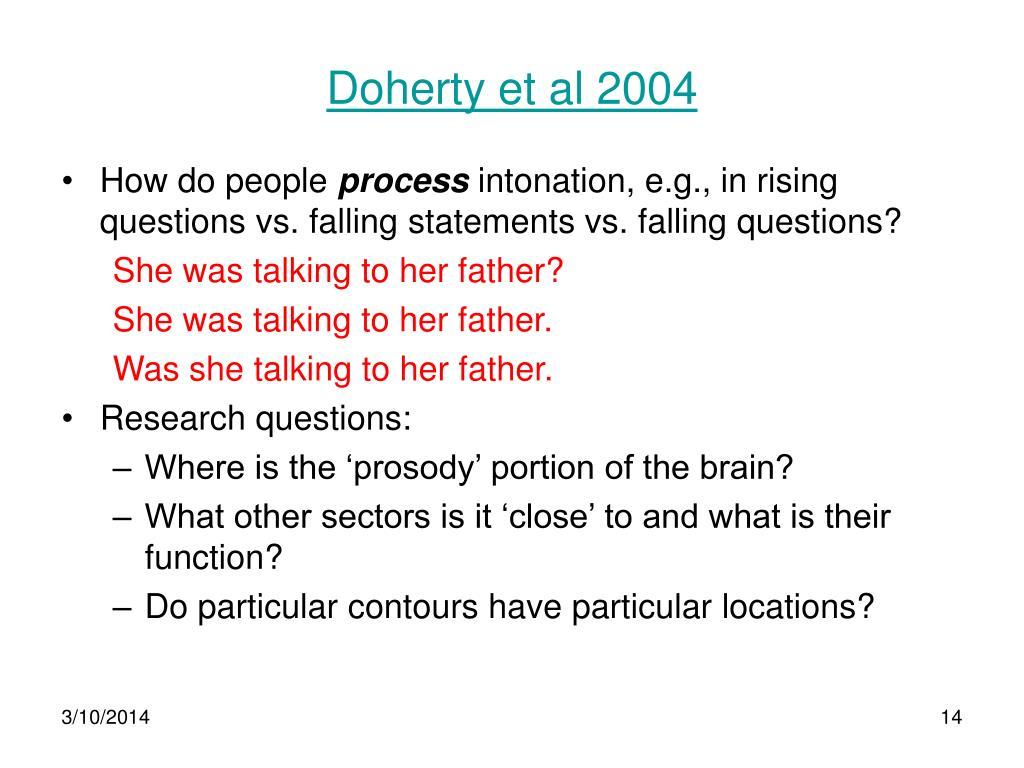 Doherty et al 2004