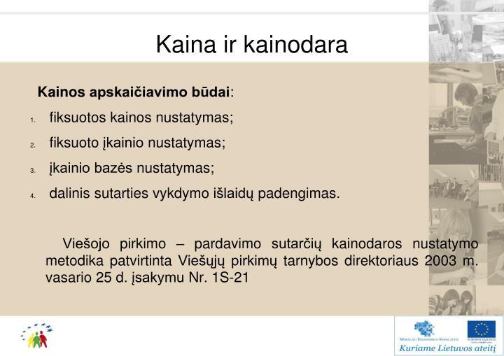 Kaina ir kainodara