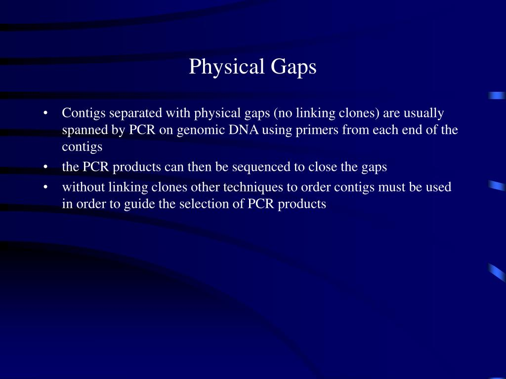 Physical Gaps