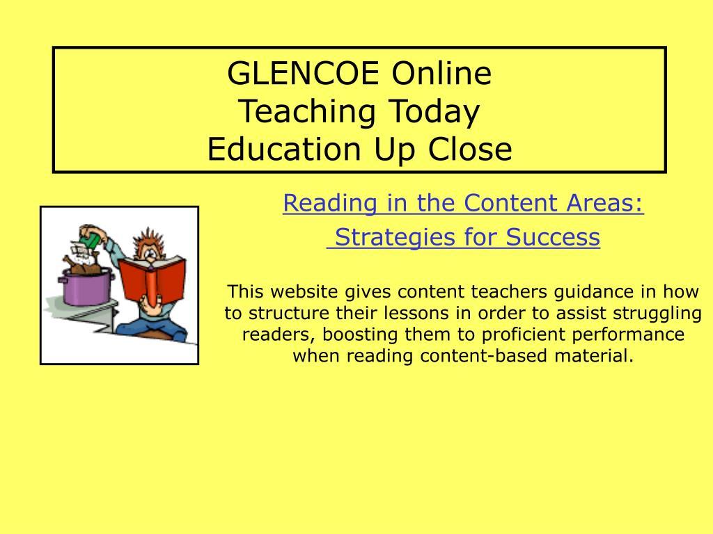 GLENCOE Online