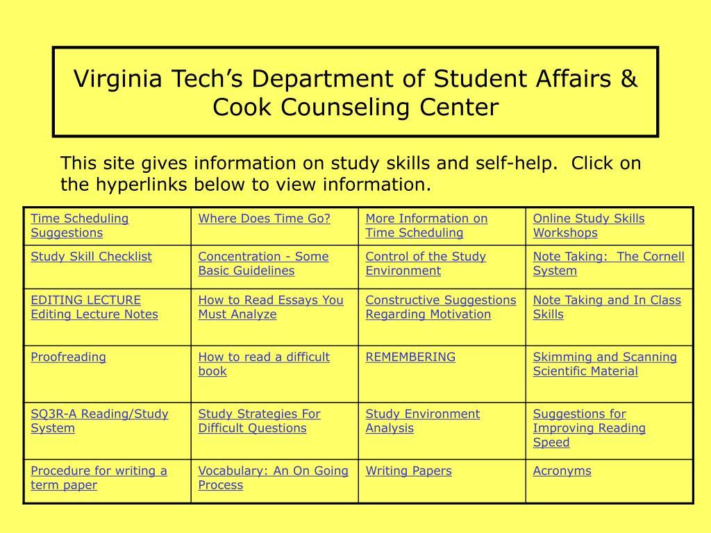 Virginia Techs Department of Student Affairs &