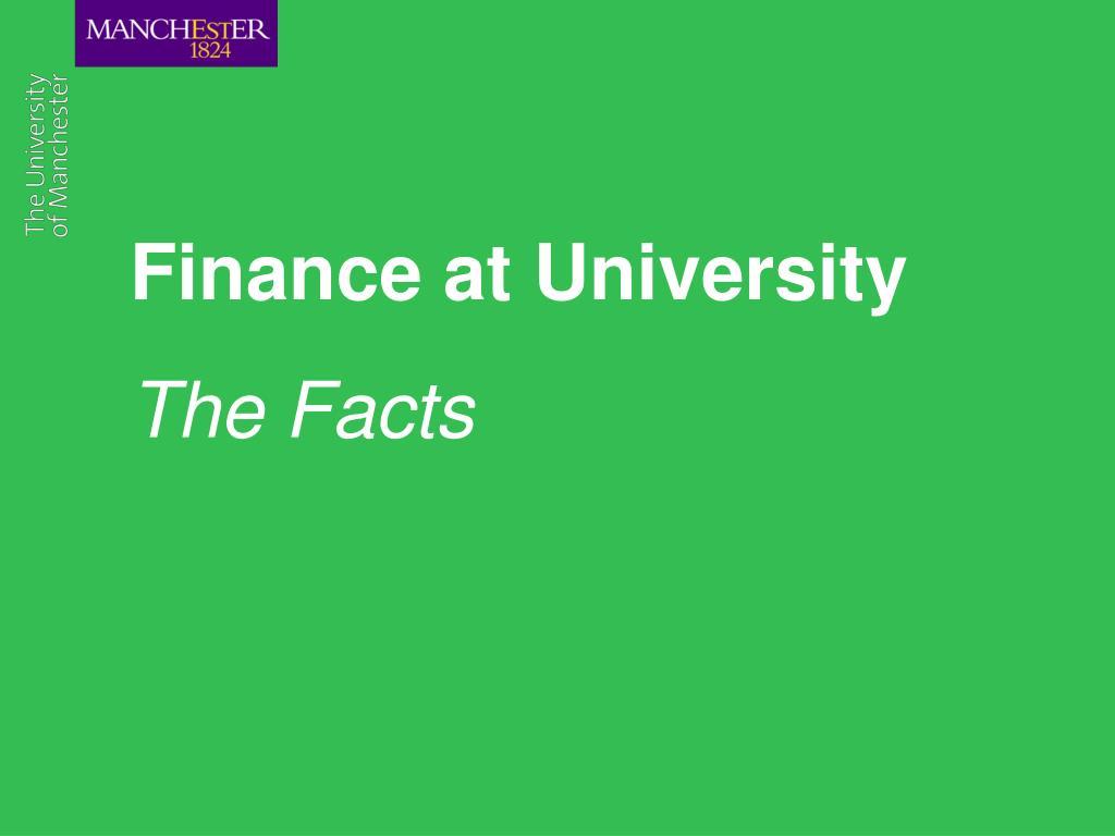 Finance at University