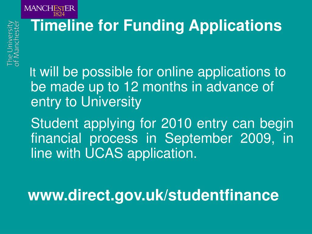 Timeline for Funding Applications