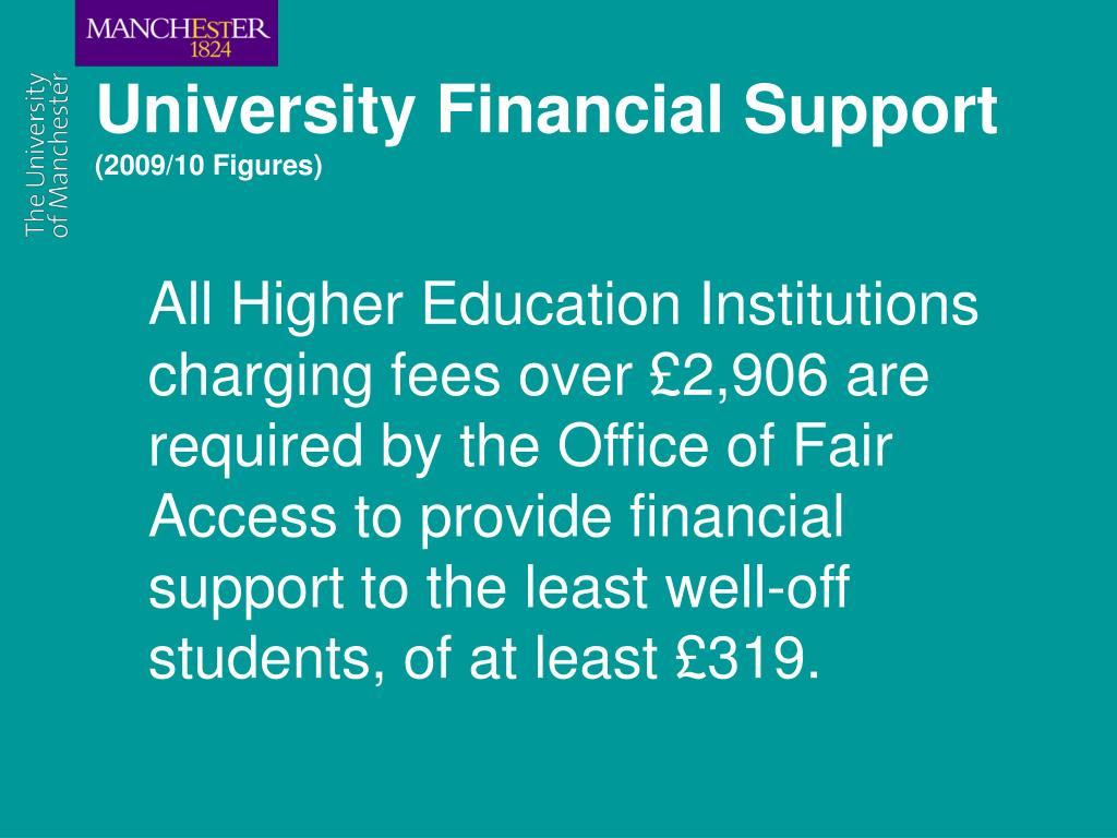 University Financial Support