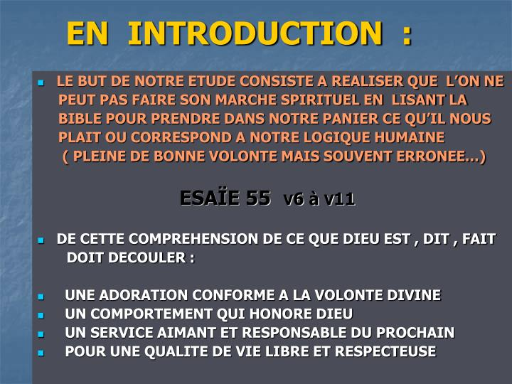 En introduction
