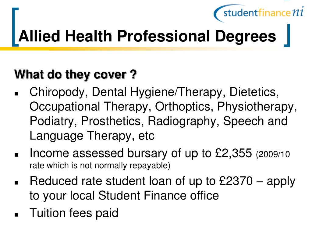 Allied Health Professional Degrees
