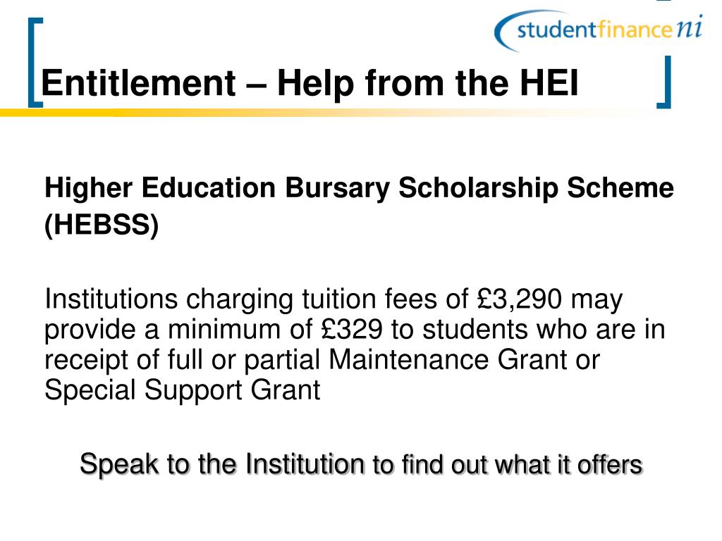 Entitlement – Help from the HEI