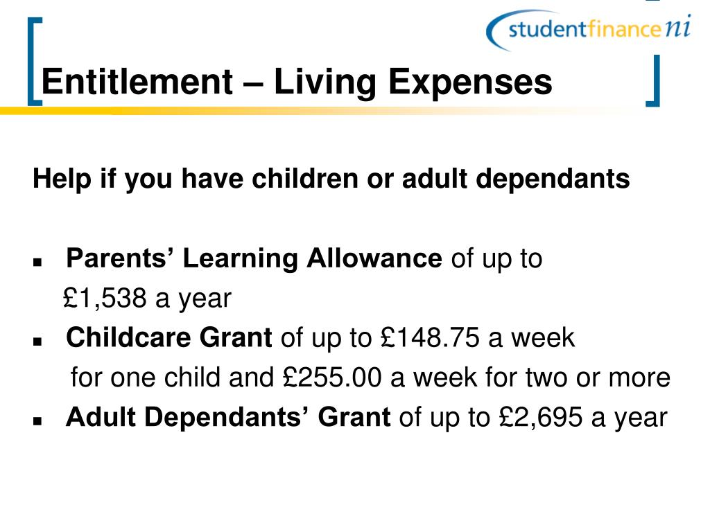 Entitlement – Living Expenses