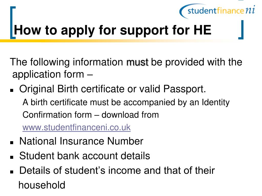 How to apply for support for HE
